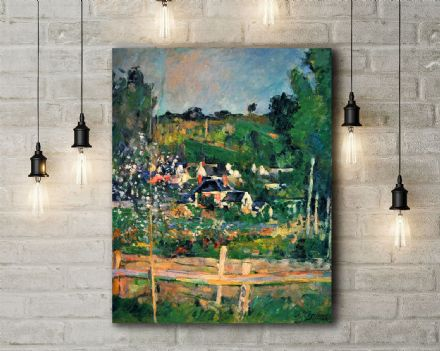 Paul Cezanne: Auvers. Fine Art Canvas.